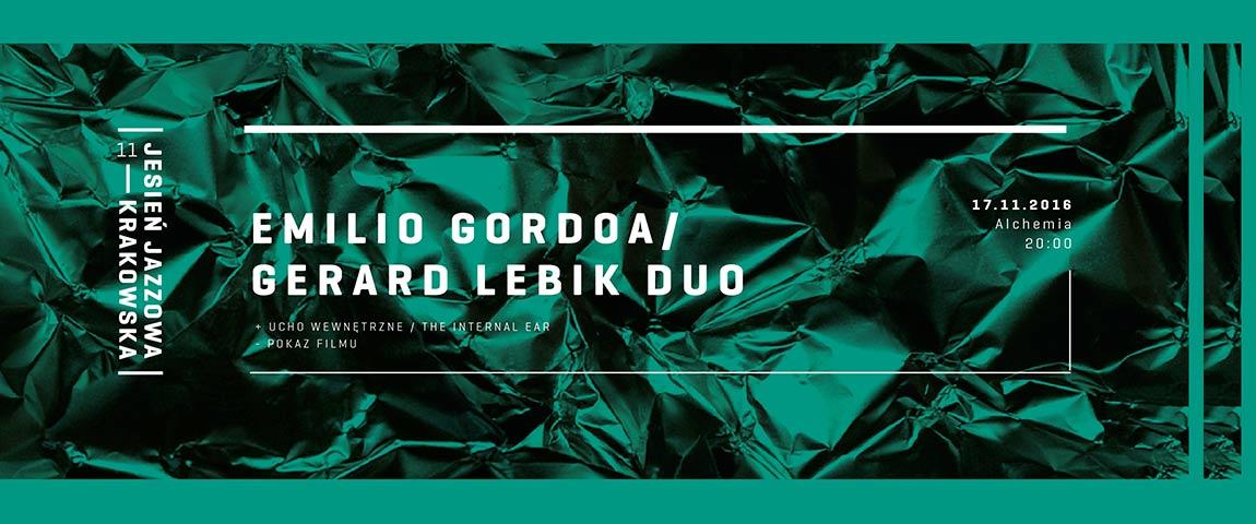 Gerard Lebik / Emilio Gordoa Duo – Polish improvised music